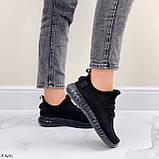 Кросівки чорні жіночі / молодіжні текстиль, фото 5