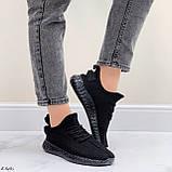 Кросівки чорні жіночі / молодіжні текстиль, фото 6