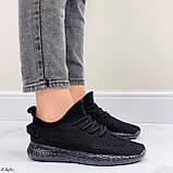 Кросівки чорні жіночі / молодіжні текстиль, фото 7