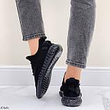 Кросівки чорні жіночі / молодіжні текстиль, фото 8