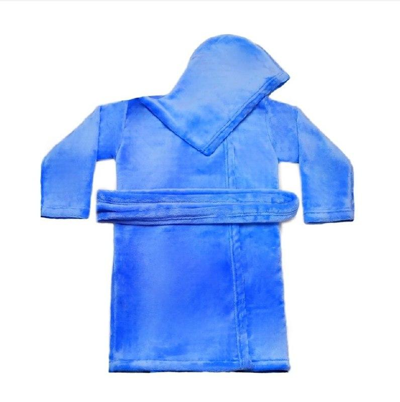 Детский махровый халат однотонный велсофт