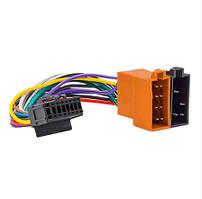 Переходник автомагнитолы ISO-002B PIONEER 16pin розъем с кабелем 20см, ISO 453017