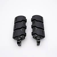Подножки RTS  HARLEY FATBOY DYNA FXWG FXR FXST FXD   1 метал, лапки, мото педали, черные