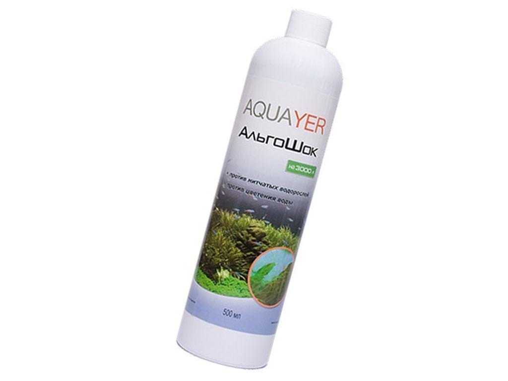 AQUAYER АльгоШок 500 мл препарат против зеленых, нитчастых водорослей и цветения воды
