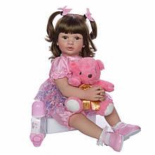 Лялька Keiumi Реборн дівчинка вініл-силікон 60 см D0004