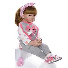 Лялька Keiumi Реборн дівчинка вініл-силікон 60 см D0007