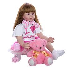 Лялька Keiumi Реборн дівчинка вініл-силікон 60 см D0008