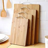 Доска кухонная разделочная бамбуковая 20х30 см, фото 1