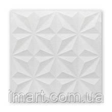Самоклеюча декоративна потолочно-стінова 3D панель зірки 700х700х5мм