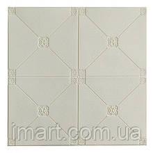 Самоклеюча декоративна потолочно-стінова 3D панель плитка 700x700x4.5мм