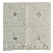 Самоклеюча декоративна потолочно-стінова 3D панель дзеркало 700х700х6.5мм