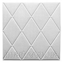 Самоклеюча декоративна потолочно-стінова 3D панель 700х700х8мм