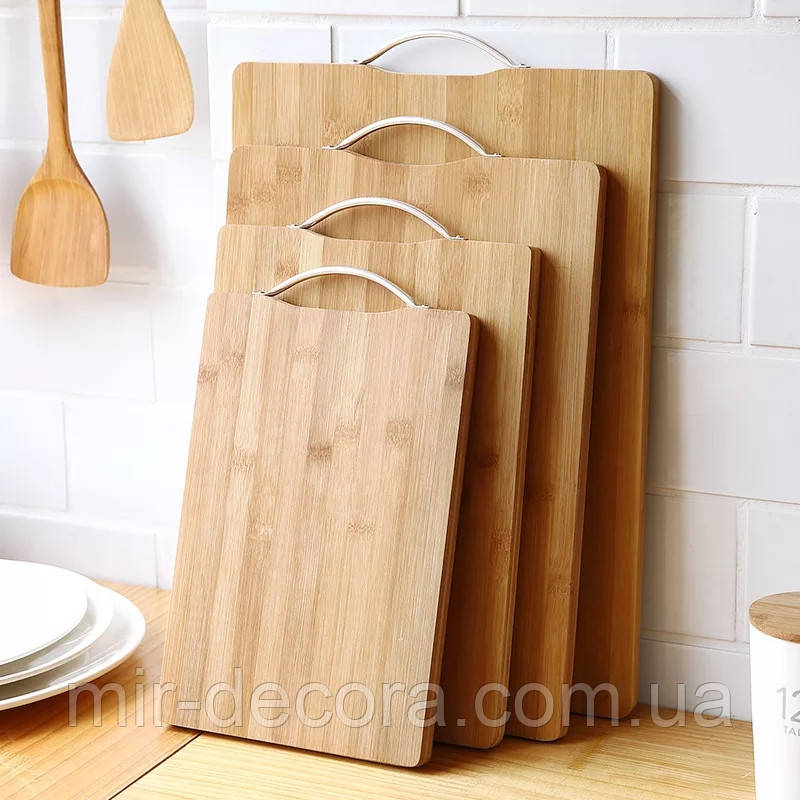 Доска кухонная разделочная бамбуковая 30х40 см