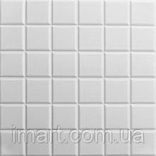 Самоклеюча декоративна потолочно-стінова 3D панель куби 600х600х7мм