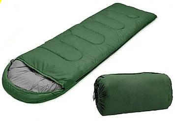 Спальный мешок, спальник, теплый, широкий, с капюшоном, одеяло, туристический, универсальный, качественный