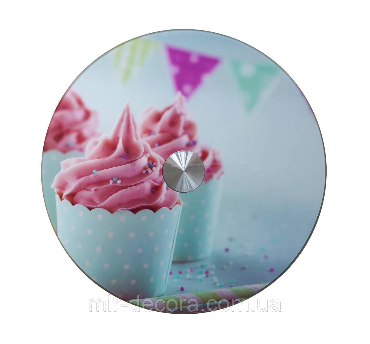Подставка поворотная для десертов 30 см стекло