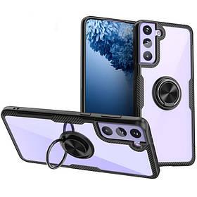 TPU+PC чохол Deen CrystalRing for Magnet (opp) для Samsung Galaxy S21+