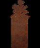 Надгробие памятник на кладбище из металла 50*103см*8мм, памятник Природа 01