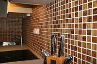 Мозаика деревянная – выполнена из массива дерева, это новинка украшения,