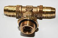 Фитинг- тройник с наружной резьбой (трубка d6Х4;m=22Х1.5;L=40mm) SIRIT