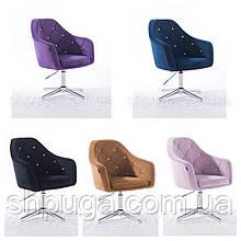 Крісло 830 велюр, колір на вибір, підстава стопки .