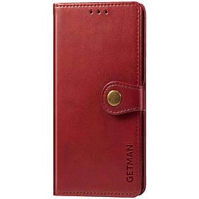 Шкіряний чохол книжка GETMAN Gallant (PU) для Xiaomi Redmi Note 9 5G / Note 9T