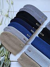 Демисезонная детская вязаная шапочка и снуд для мальчика и девочки ручной работы весна осень.