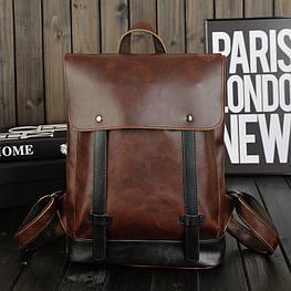 Мужской кожаный рюкзак модель с9