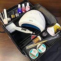 Набор для наращивания ногтей Global с лампой Sun One и фрезер-ручкой в сумке
