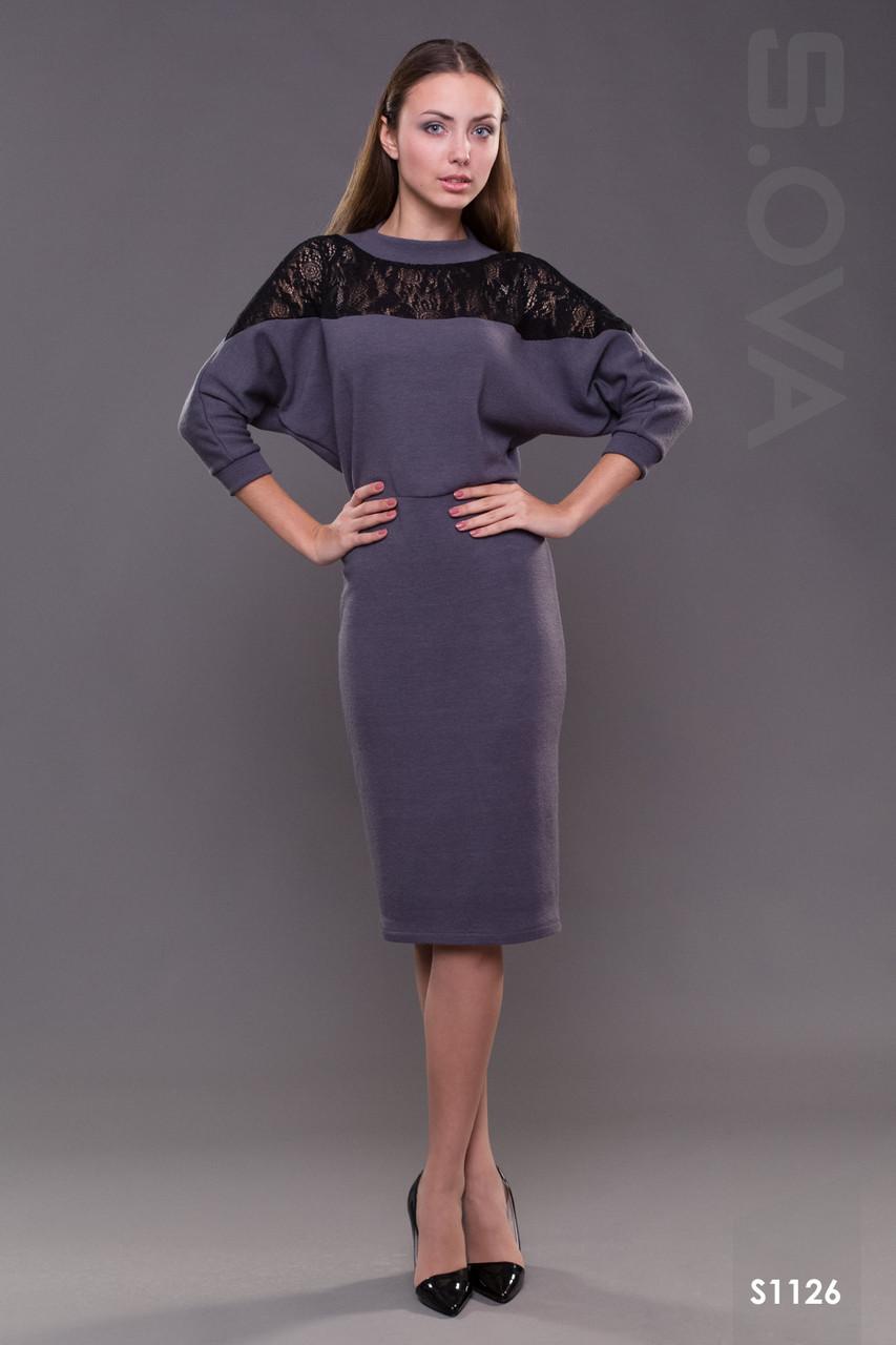 Женское платье миди с кружевом трикотажное  продажа, цена в Херсоне ... f4023d76d70