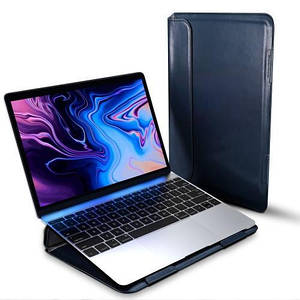 "Папка-конверт для MacBook Leather standing pouch 15"" dark blue"