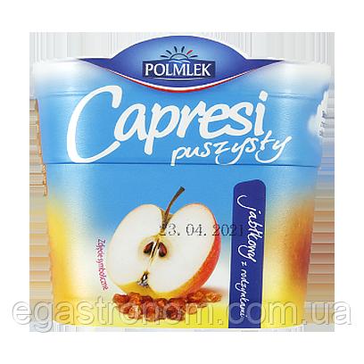 Сир вершковий Капресі яблуко та родзинки Capresi puszysty 150g 12шт/ящ (Код : 00-00005622)