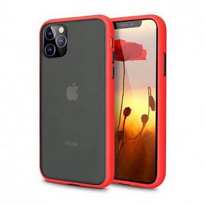 Чехол накладка xCase для iPhone 12 Mini Gingle series red black