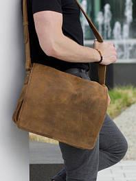 Мужские кожаные сумки и барсетки
