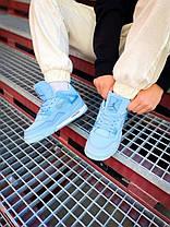 """Женские баскетбольные кроссовки Off-White x Air Jordan 4 Retro Mid """"Pure Blue"""", фото 2"""