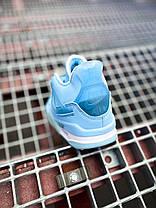 """Женские баскетбольные кроссовки Off-White x Air Jordan 4 Retro Mid """"Pure Blue"""", фото 3"""