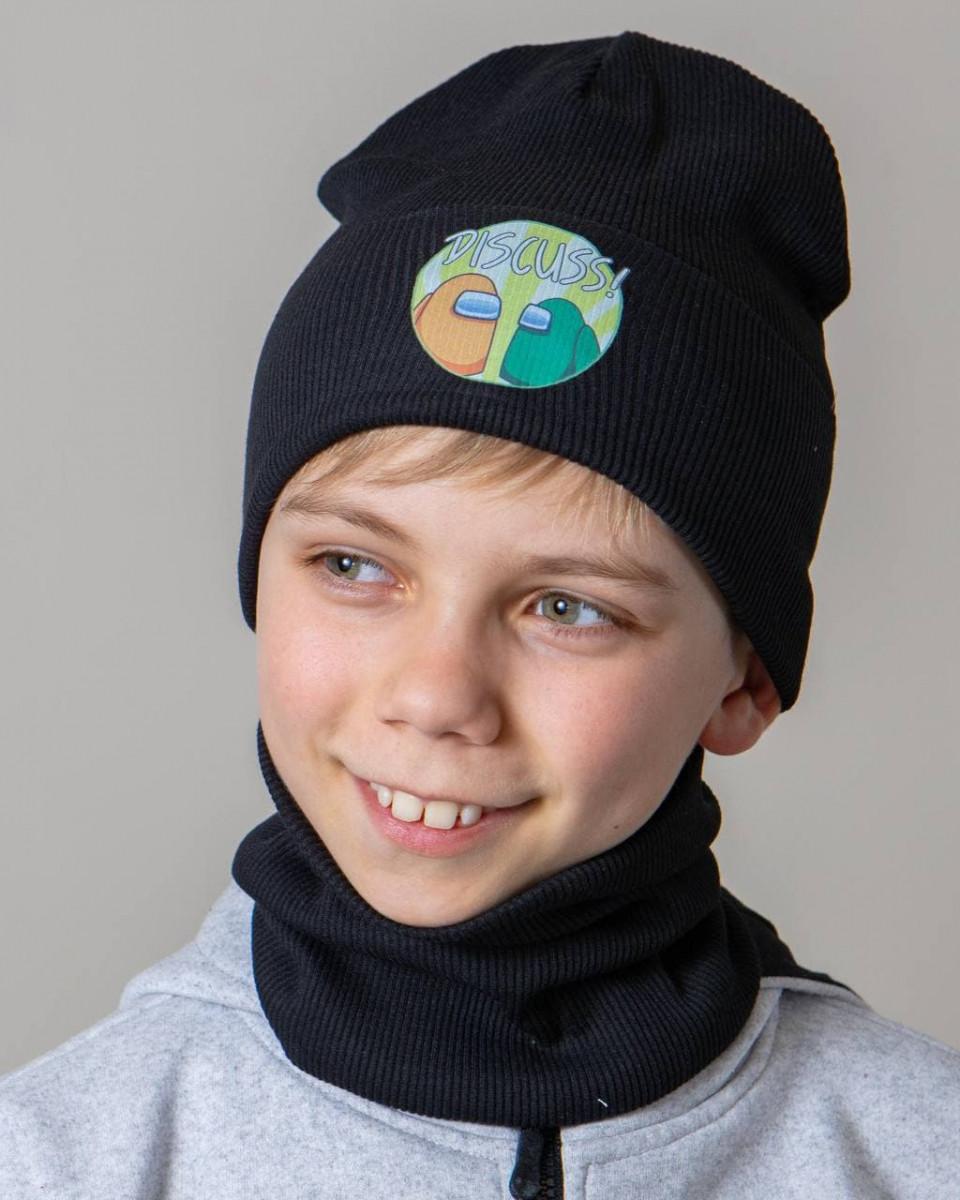 Комплект (шапка хомут) для хлопчика на весну-осінь оптом - Артикул 2782