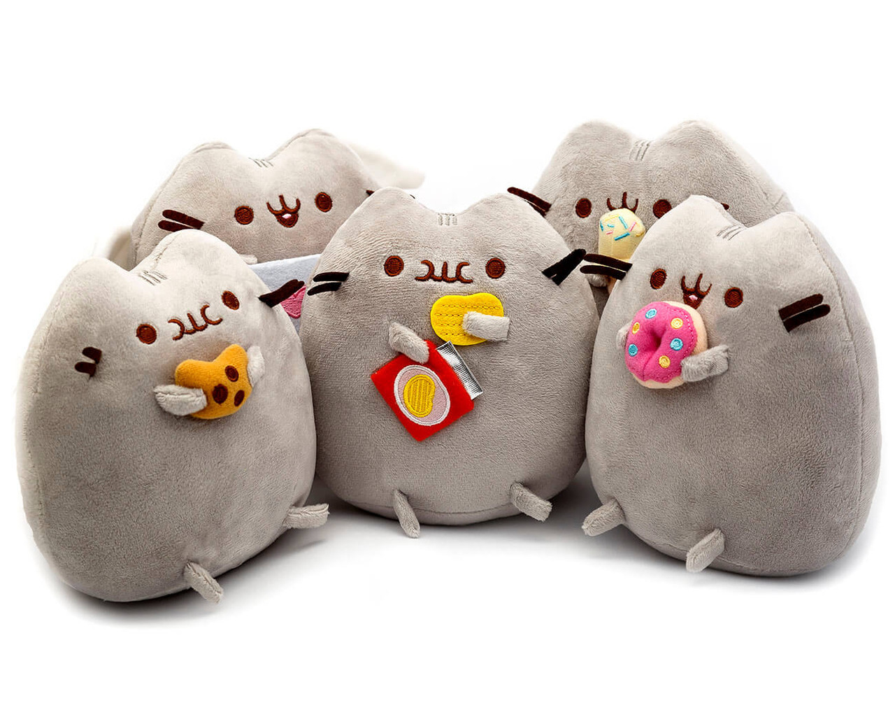 Комплект Мягких игрушек коты Pusheen cat из пяти штук (vol-754)