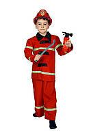 Детский карнавальный маскарадный костюм Пожарника в комплекте атрибуты рост:110-134 см
