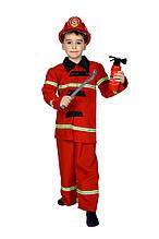 Дитячий карнавальний маскарадний костюм Пожежника в комплекті атрибути зростання:110-134 см