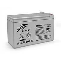 Аккумуляторная батарея AGM RITAR RT1280, 12V 8.0Ah  (151х65х100 мм) Q10