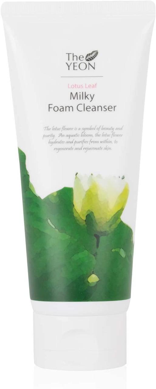 Очищающая молочная пенка для умывания с экстрактом лотоса The Yeon Lotus Leaves Milky Foam Cleanser 150 мл