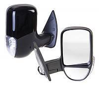 Зеркало боковое ГАЗ 3302 нового образца с поворотом левое черное матовое <ДК>