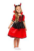Детский карнавальный маскарадный костюм Чертик черт чертенок размер: 30, 32, 34