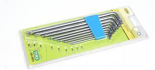 Набор ключей Torx L-образных (9 шт) (275mm) (Т10/Т15/Т20/Т25/Т27/Т30/Т40/Т45/Т50mm)  JBM (Испания)52074