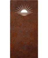 Надгробок з металу Природа 13 Сталь Сorten 6 мм