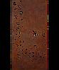 Надгробок з металу Природа 16 Сталь Сorten 6 мм