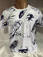 Мужская модная футболка с принтом