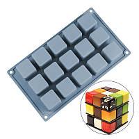 Форма силиконовая для евродесертов Куб 4 см из 15 шт