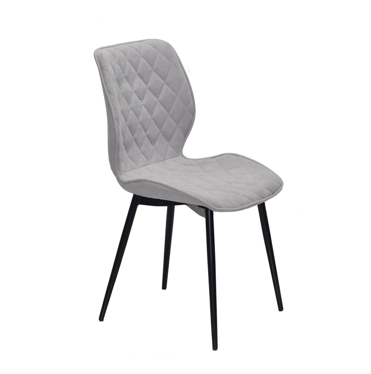 Обідній стілець Nolan ML (Нолан) світло - сірий шеніл на чорних ногах метал